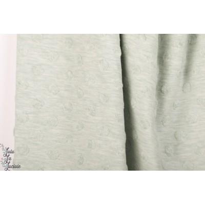 Jersey jacquard Stenzo Vert d'eau texturé Stenzo layette bébé menthe