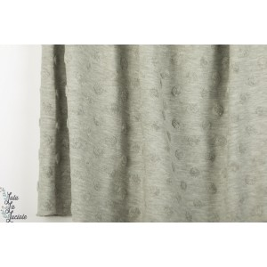 Jersey jacquard Stenzo texturé gris