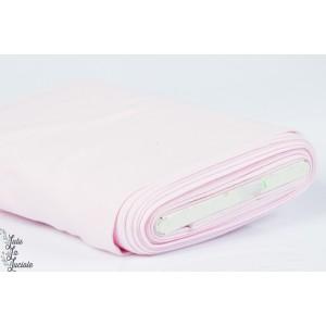 Tissu Bord-Côtes Rose Bébé