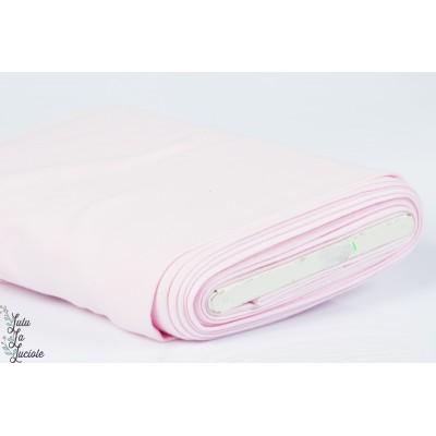 Tissu Bord-Côtes Rose Bébé tubulaire