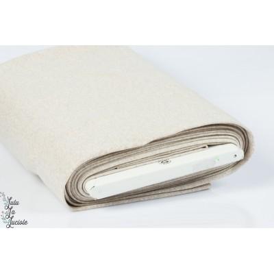 Tissu Bord-Côtes Beige chinée tubulaire