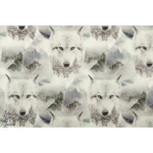 Jersey Stenzo Loups blancs graphique animaux chien