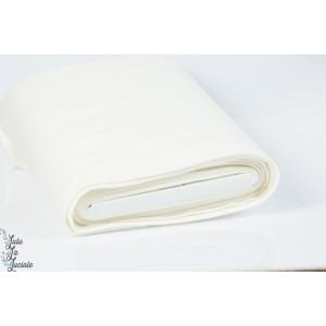 Tissu Bord-Côtes Écru