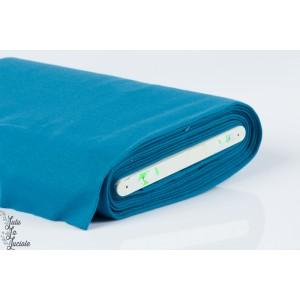 Tissu Bord-Côtes  Bleu Pétrole tubulaire