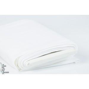 Tissu Bord-Côtes Blanc