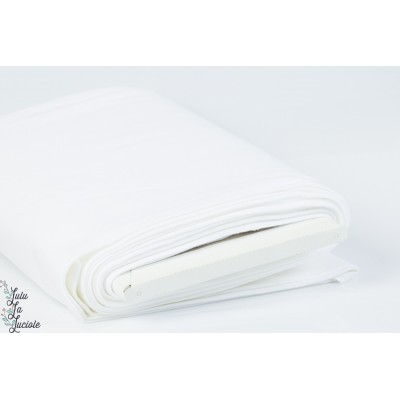 Tissu Bord-Côtes Blanc tubulaire