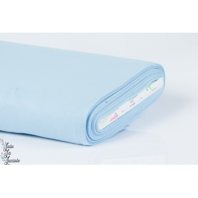 Tissu Bord-Côtes Bleu Clair tubulaire
