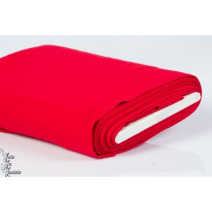 Tissu Bord-Côtes Rouge tubulaire