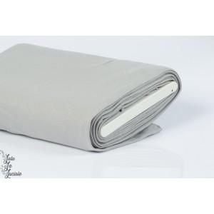 Tissu Bord-Côtes Gris Clair tubulaire