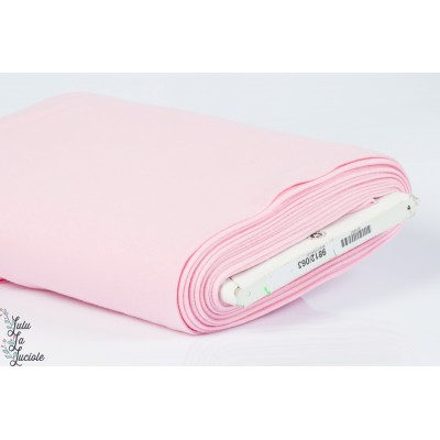 Tissu Bord-Côtes Rose Clair tubulaire
