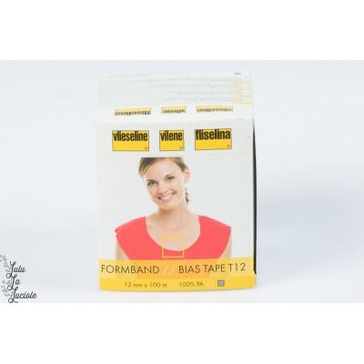 Stabilmanche Vlieseline Blanc 12 mm