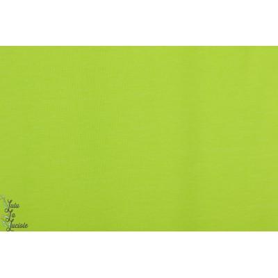 Jersey Uni Lime Lillestoff  Carlos vert fluo bio