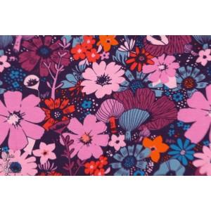 Jersey cotton Steel bouquet grape sarah watt dress shop fleur
