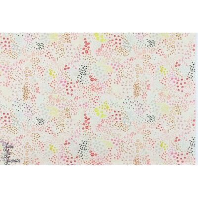 Batiste Cotton Steel WILDFLOWER cream fleur jardin lawn femme mode éré