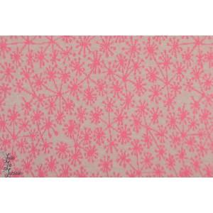 jacquard  bio Pusteblumen, grau/pink SUSAlabim Lillestoff