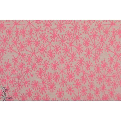 jacquard Pusteblumen, grau/pinkgris rose bio lillestoff susalabim pissenlit dandelion