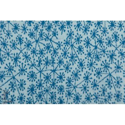 Pusteblumen, hellblau/taubenblau Jacquard bio SUSAlabim Lillestoff dandelion pissenlit bleu été