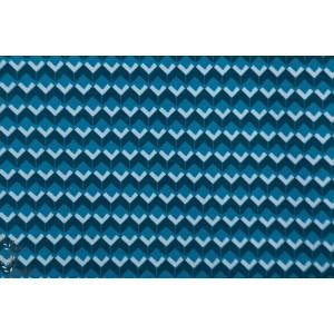 Jersey bio Stella graphique géométrique rauyure triange lillestoff bleu