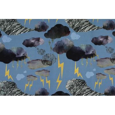 Sweat bio Roo Flash&Rumble Blue bleu ciel orage éclair story of roo enfant