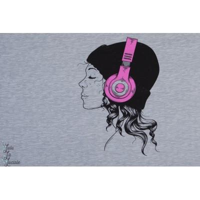panneau Sweat Patty Girl Rose enfant ado musique grafiti