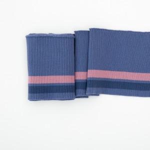 Bord Cote bleu rayé rose poignet