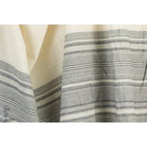 jacquard seville rayure gris blanc 180