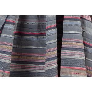 tissu  Lilou12 graphique rayure bleu rose