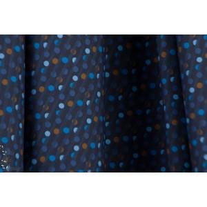 Popeline fine jeu de pois fond bleu chemise homme graphique