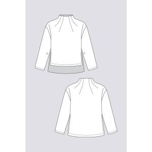 patron Sweat Talvikki en Anglais, couture, femme, mode, moderne,