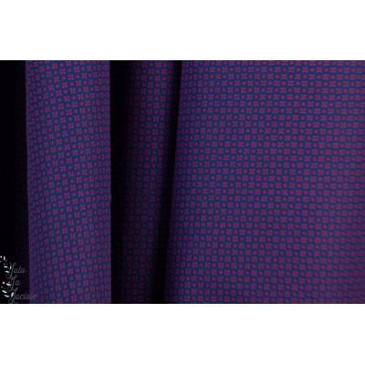 popeline fine fleur graphique fond bleu rouge rendu violet chemise homme
