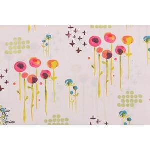 popeline Bio Poem Haiku 2 aquarelle peinture monaluna poeme fleur rose