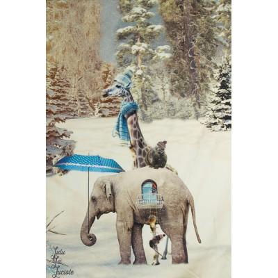 Panneau jersey Eléphant et compagnie en hiver Stenzo