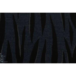 jersey Jean Bio Lillestoff ZEbra Womenjean dunkelblau graphique marine