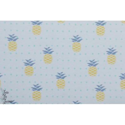 Jersey Bio Pina - Ananas - Lillestoff fruit graphique bleu été
