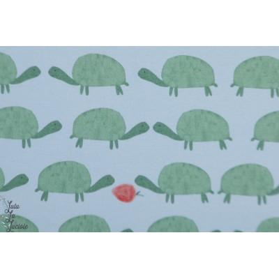 jersey Bio Wilma Lillestoff tortue fraise lillemo graphique rétro vintage