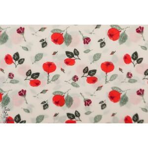 Voile Bio Roses ( rosa) C.Pauli fleur batiste mode femme
