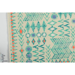coton et Lin Canvas tribal par Kokka