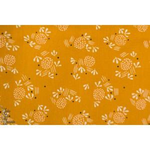 Popeline Dovestone DOVE1362 Seeds Dashwood Studio graine fleur moutarde plaid patch