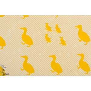 Canvas kokka double face canard jaune toile sac accessoire