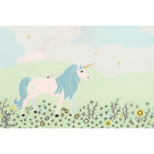 Popeline Bordure Michael Miller  Magic Meadow licorne