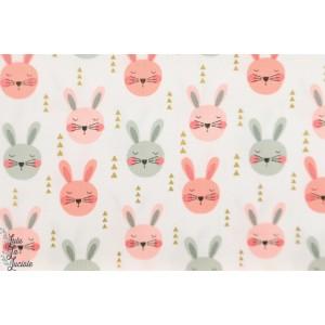 Popeline Michael Miller Cute mètallique - lapins