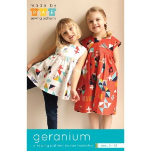 geranium Dress newborn - 5 ans robe patron couture anglais made by rae