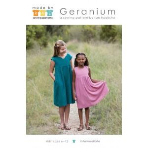 Patron robe  géranium dress 6-12 ans- anglais made by rae