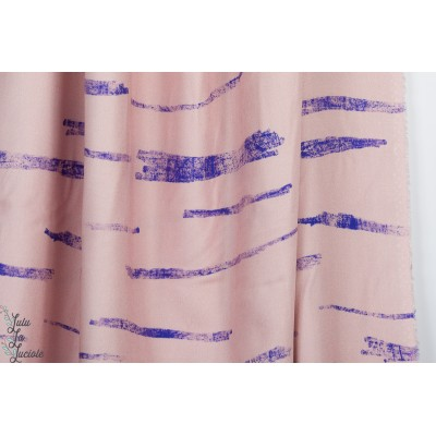 Viscose  Rose à traie graphqiue mode femme maison victor