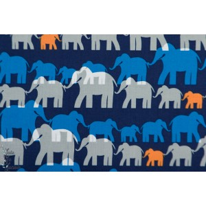 Popeline Michael Miller  herd Elephants afrique trecking plaid patch garçon animaux