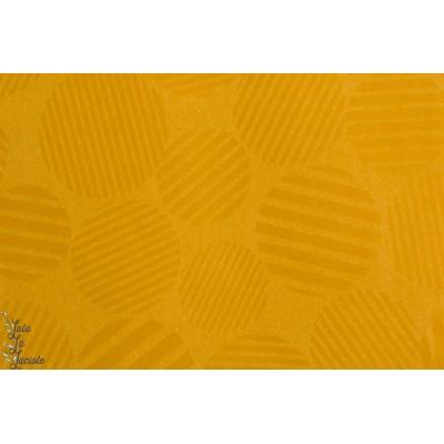 Tissu coton japonais parfait pour veste ou manteau femme : Broken Sateen en Moutarde by Kokka