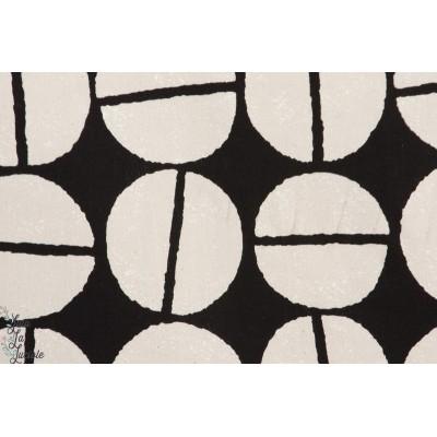 Tissu coton japonais Gros grain de café Noir by Kokka