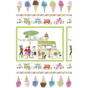 panneau Sweet treats Windham ice craeam popeline glace enfant