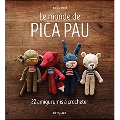 Livre Le Monde De Pica Pau 22 Amigurumis à Crocheter Doudou Animaux Enfant