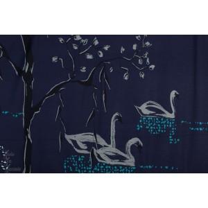 Modal Schwanensee bei Nacht SUSAlabim Lac des Cygnes de nuit Lillestoff